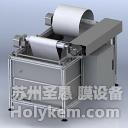 Membrane washing and drying machine